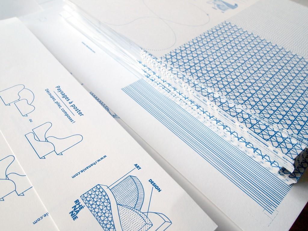 Paysages à découper Rhénanie design by Tomoe Sugiura, 2015