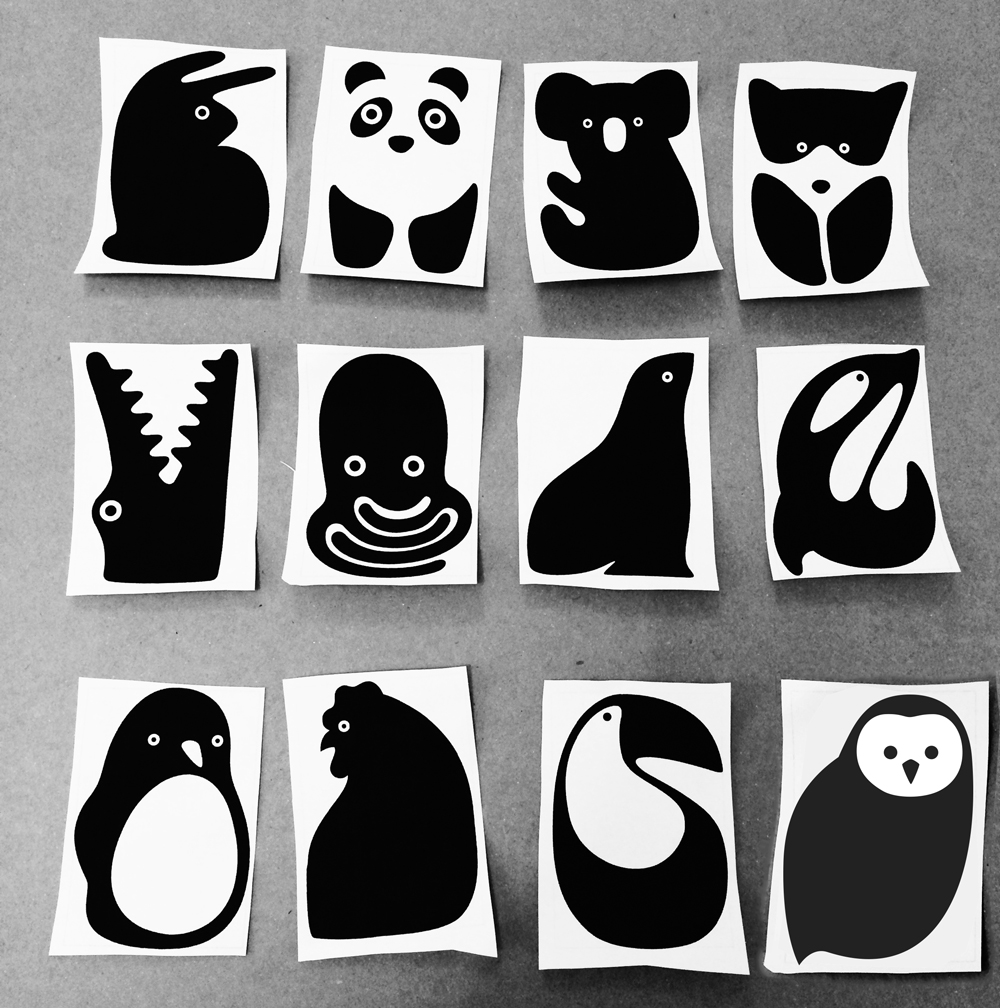 Illustration animaux, design by Tomoe Sugiura