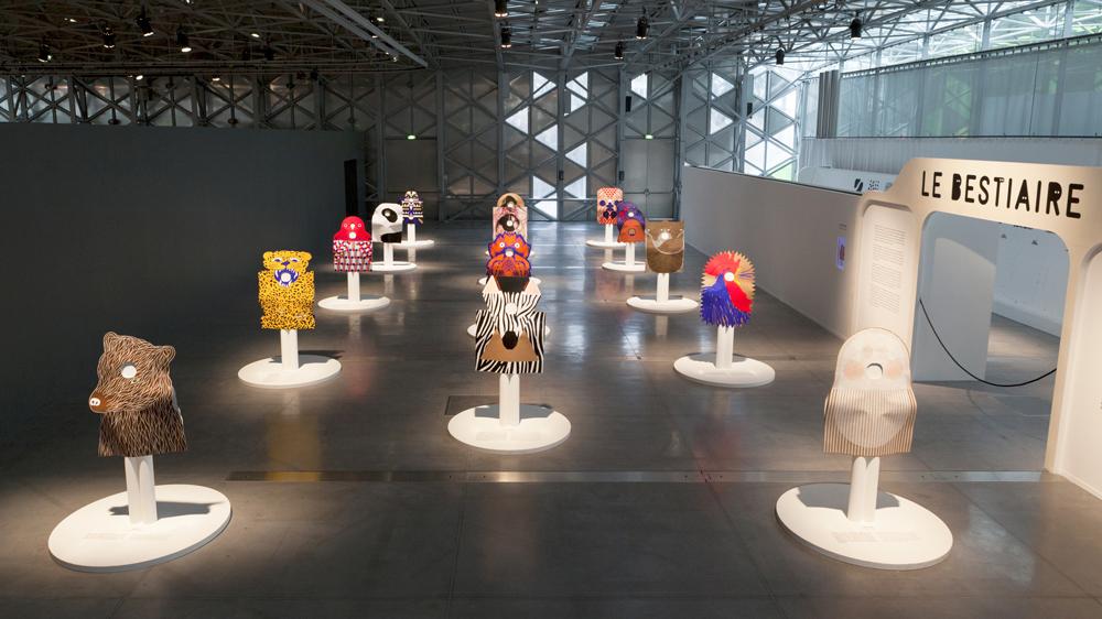 LeBestiaire de Ionna Vautrin, exposition à la Biennale de Saint Etienne 2015. Photo-Michel-Giesbrecht