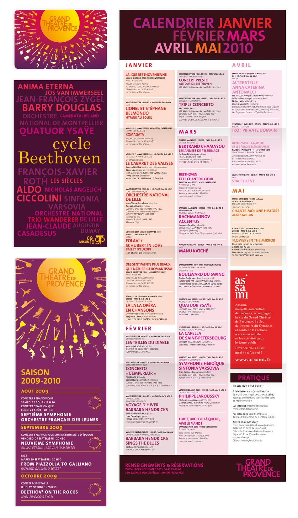identité de saison 2009-2010 Grand theatre de provence