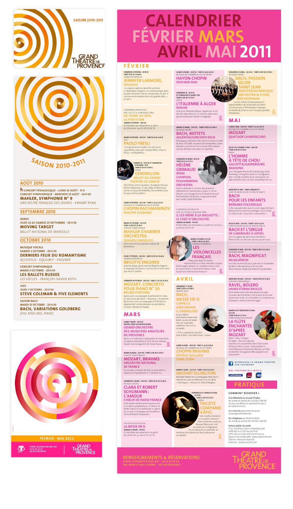 identité de saison 2010-2011 Grand theatre de provence
