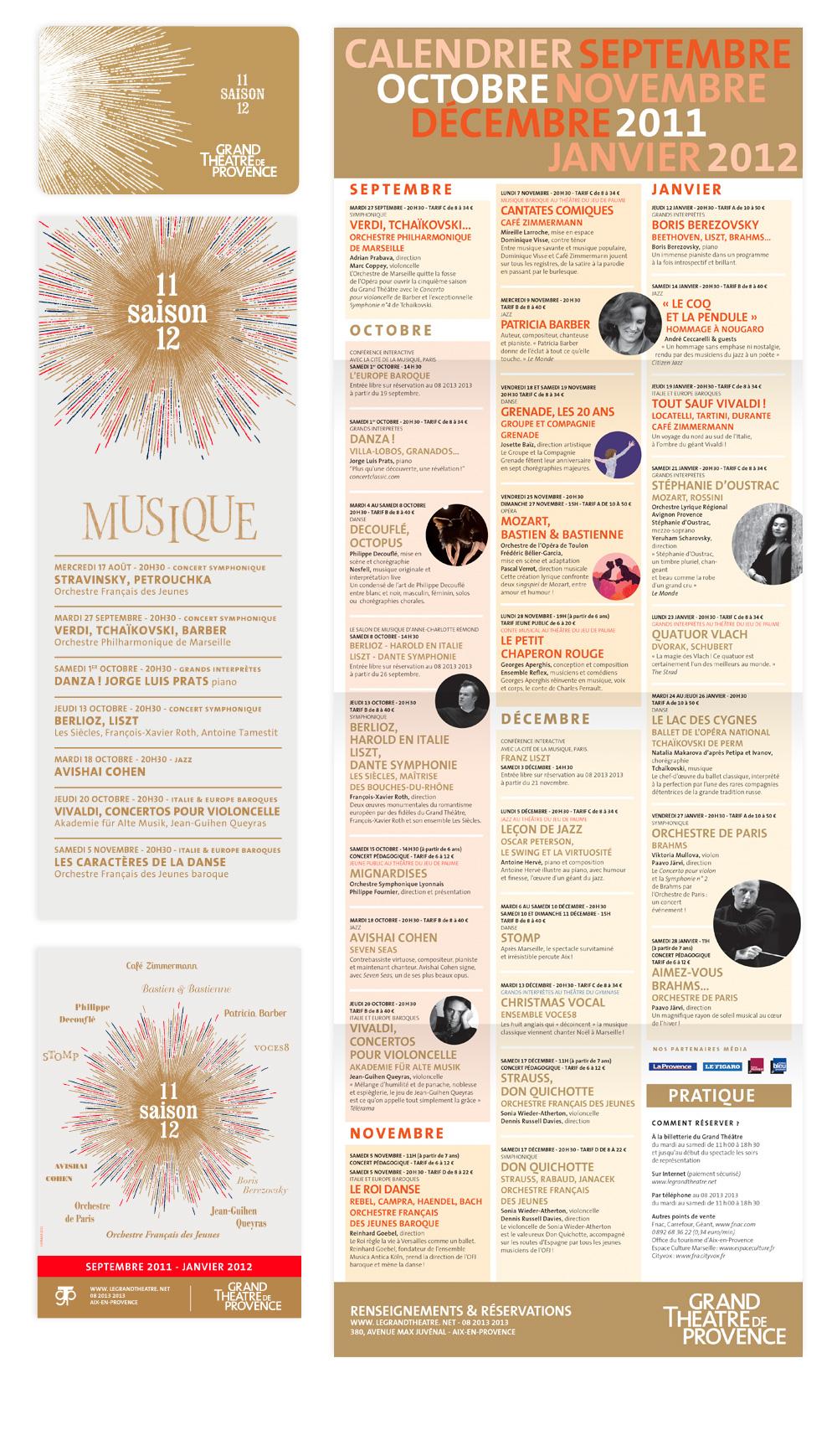 identité de saison 2011-2012 Grand theatre de provence