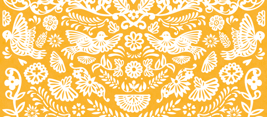 Papel picado, pattern design by Tomoe Sugiura for Atelier Rosemood,2013