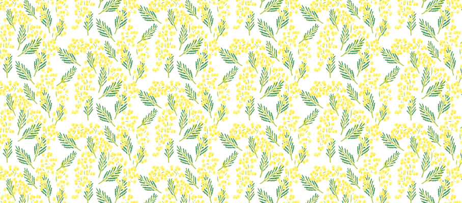 Mimosa pattern design by Tomoe Sugiura for Atelier Rosemood, 2014