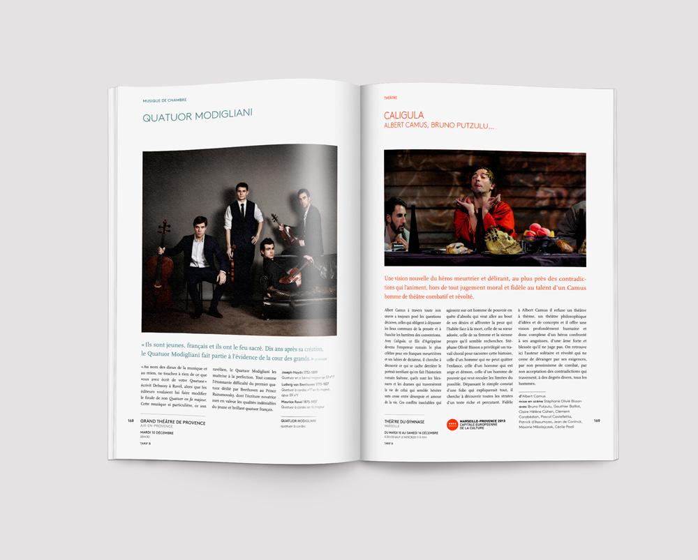 Brochure théâtre - saison 2012-2013 capitale europenne de la culture, brochure design Tomoe Sugiura